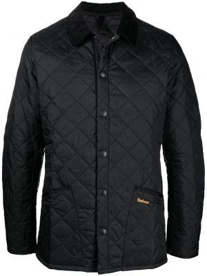 Черная стеганая куртка вельветовая Barbour