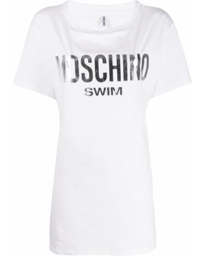 Платье мини футболка с рукавами Moschino