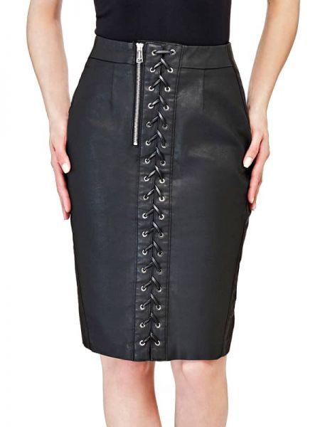 Czarna spódnica ołówkowa bawełniana Guess