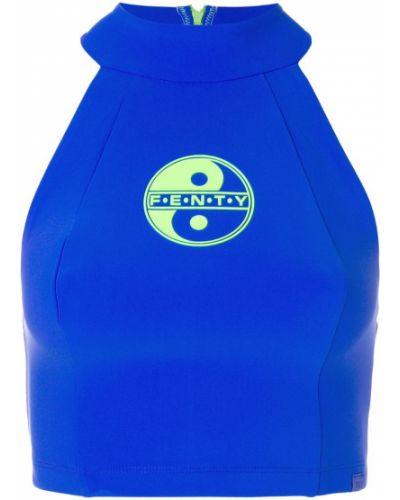 Укороченный топ - синий Fenty X Puma