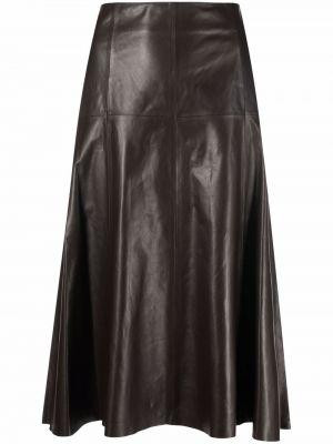 Коричневая юбка миди с завышенной талией Arma