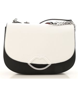 Biała torebka skórzana Lulu Guinness