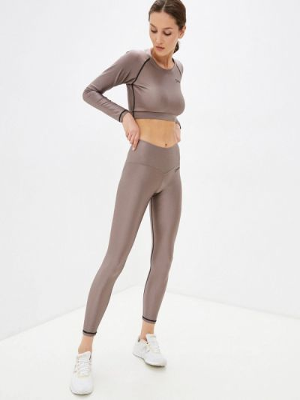 Костюмный бежевый спортивный костюм для фитнеса Go Fitness