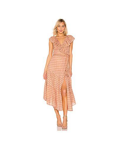 Платье макси с завышенной талией персиковое Apiece Apart