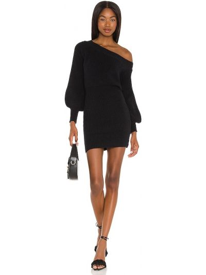 Черное акриловое платье Line & Dot