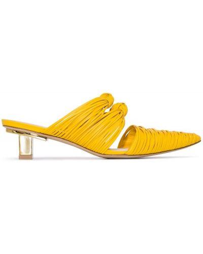 Мюли на каблуке желтый Cult Gaia
