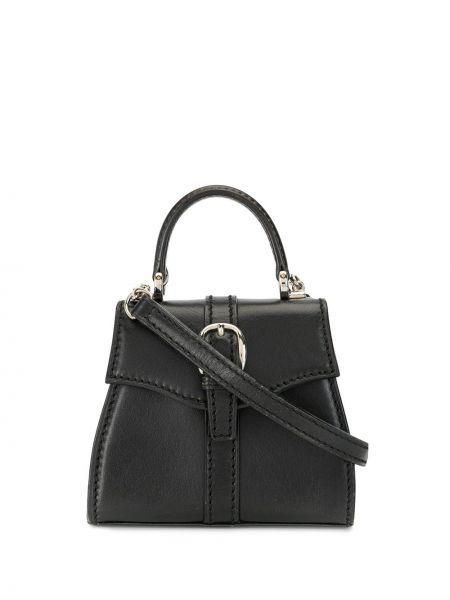 Кожаная черная кожаная сумка круглая с карманами Gucci Pre-owned