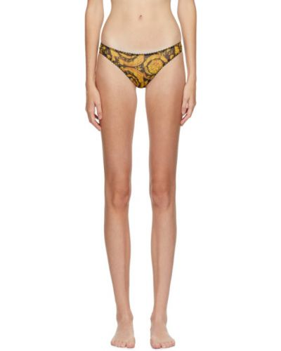 Нейлоновые ажурные брифы на шнурках Versace Underwear