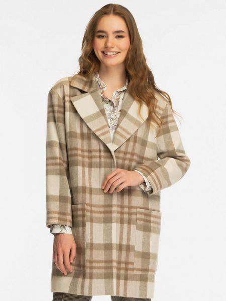 Бежевое пальто с капюшоном Gregory