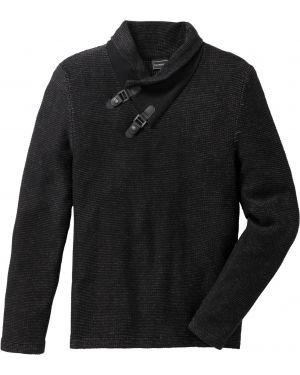 Пуловер с воротником Bonprix