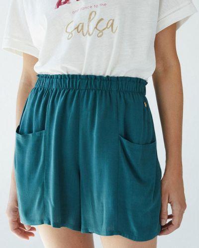 Бирюзовые брюки осенние Women'secret