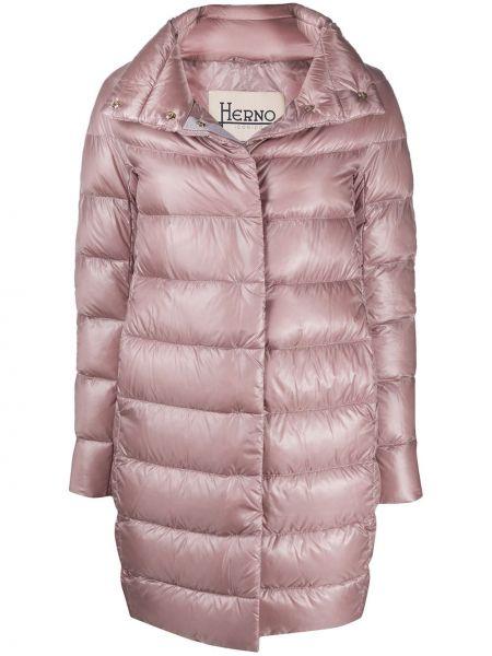 Пальто на кнопках со вставками Herno