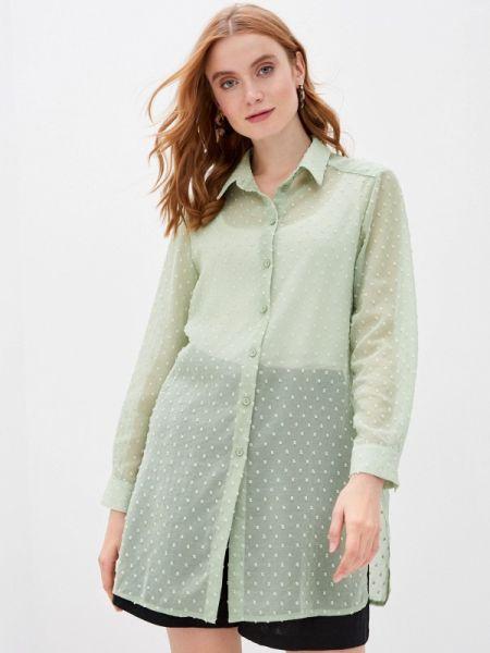 Блузка с длинным рукавом зеленый весенний Lina