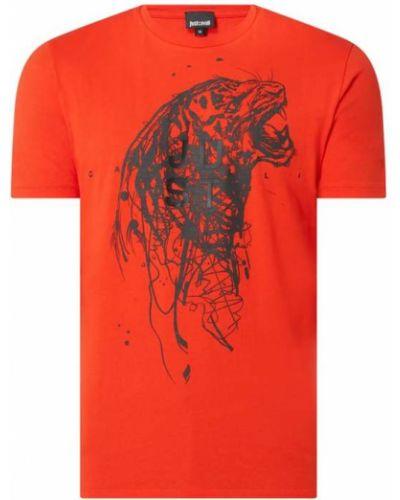 T-shirt bawełniany z printem Just Cavalli