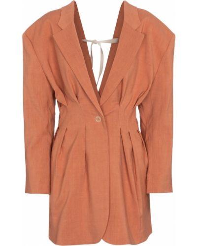 Шерстяной коричневый классический пиджак Jacquemus