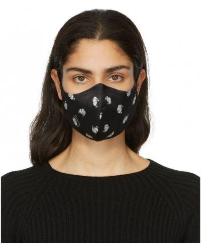 Шелковая черная маска для лица на бретелях Lanvin