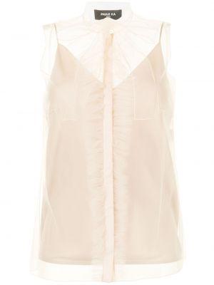 Шелковая блузка - коричневая Paule Ka