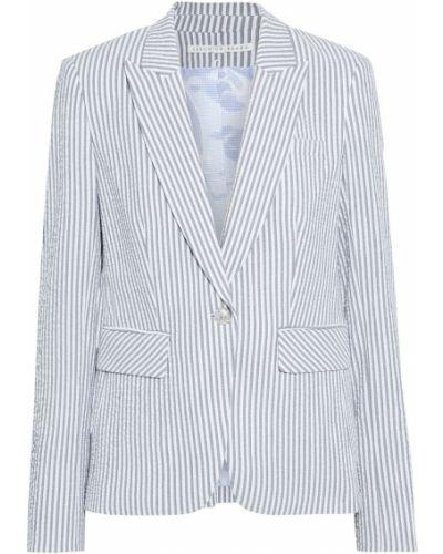 Серый пиджак с подкладкой в полоску Veronica Beard