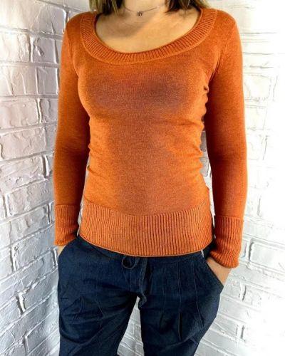 Оранжевый лонгслив с длинными рукавами Rozetka