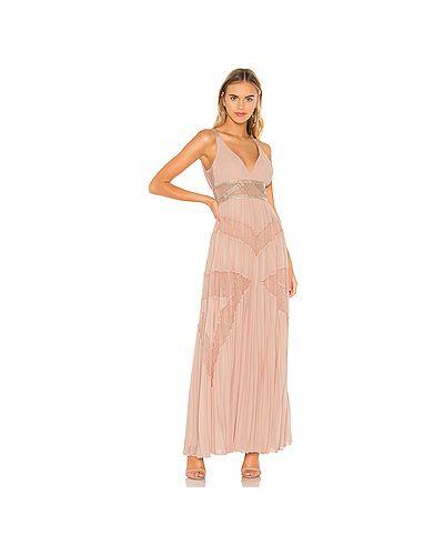 Вечернее платье розовое плиссированное Bcbgmaxazria