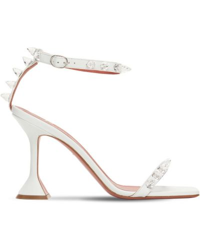 Кожаные сандалии - белые Amina Muaddi