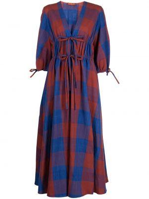 Niebieska sukienka z dekoltem w serek Altuzarra