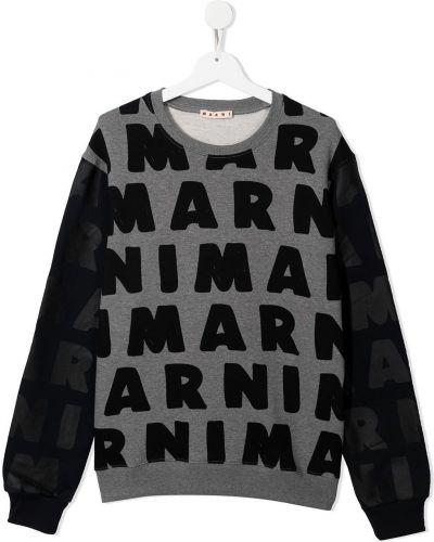 Czarna bluza z długimi rękawami Marni Kids