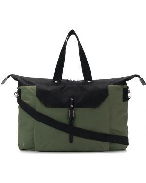 Кожаная черная дорожная сумка с декоративной отделкой Ally Capellino
