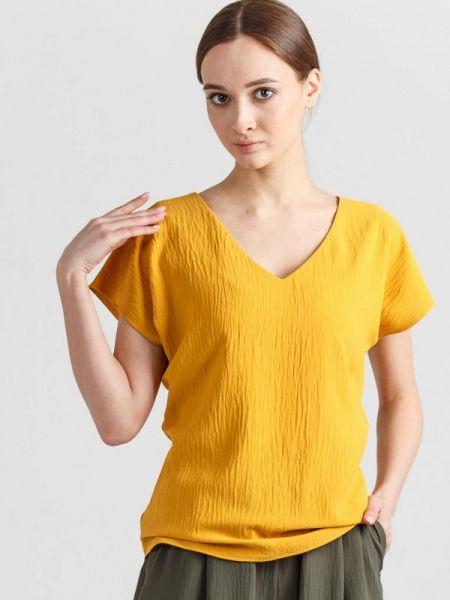 Блузка с коротким рукавом весенний желтый Remix