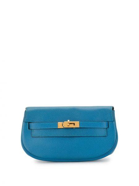 Поясная сумка синий винтажная Hermès