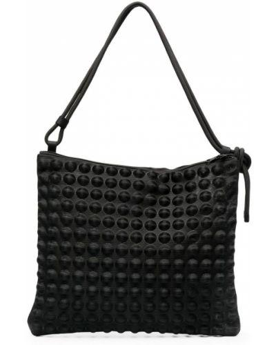 Czarna torba na ramię pikowana z nylonu Pleats Please Issey Miyake