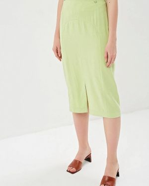 Юбка карандаш зеленый Helmidge
