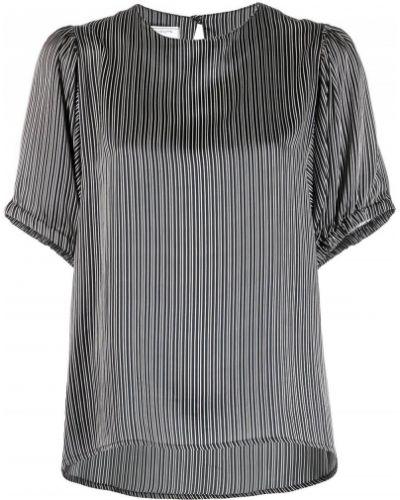 С рукавами шелковая черная блузка SociÉtÉ Anonyme