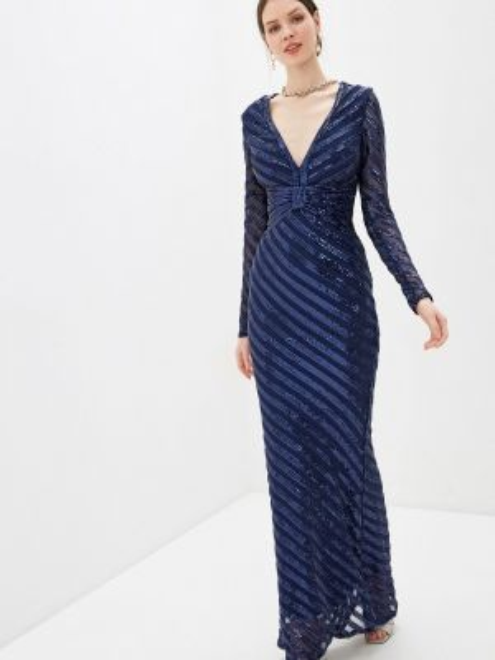 Синее вечернее платье Goddiva