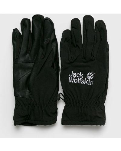 Кожаные перчатки черные Jack Wolfskin