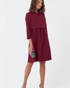 Платье с поясом со складками на молнии Fly
