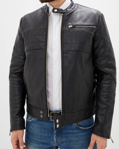 Кожаная куртка черная осенняя Just Cavalli