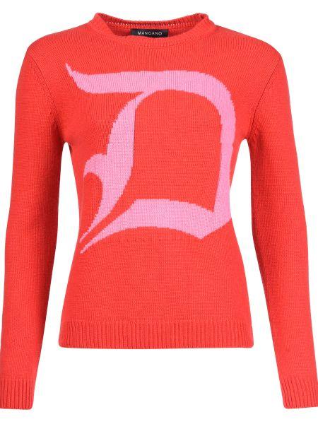 Кашемировый свитер - красный Mangano