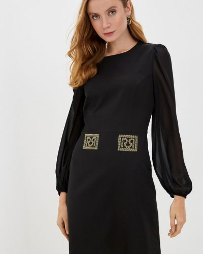 Прямое черное платье Rinascimento