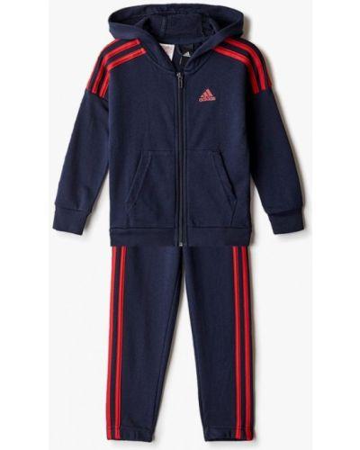 Синий костюмный спортивный костюм Adidas