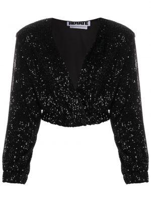 Пиджак с пайетками - черный Rotate
