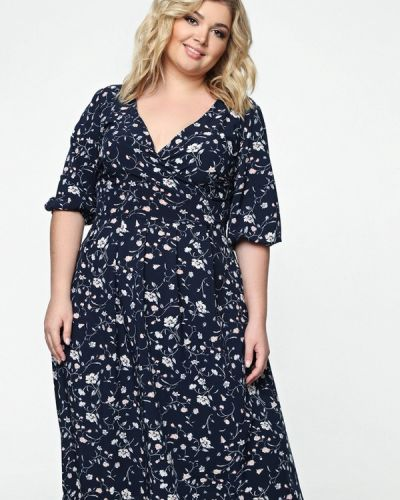 Платье миди - синее Matilda