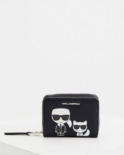 Кожаный черный кошелек Karl Lagerfeld