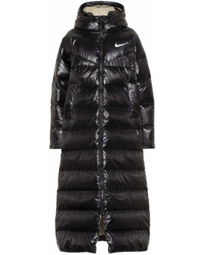 Стеганое черное пуховое стеганое пальто Nike