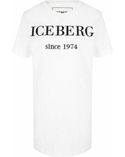 Футболка с логотипом хлопковая Iceberg