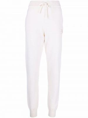 Спортивные брюки с завышенной талией - белые Karl Lagerfeld