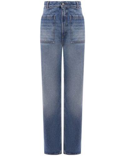 Прямые джинсы с завышенной талией - белые Mm6
