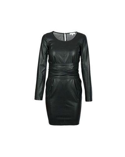 Платье кожаное черное Patrizia Pepe