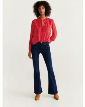 Блузка с длинным рукавом прозрачная красная Mango