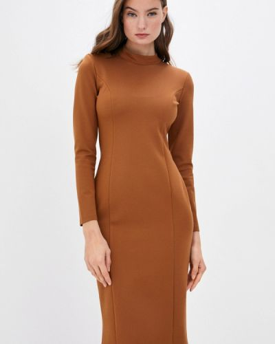Коричневое платье-футляр Trendyangel